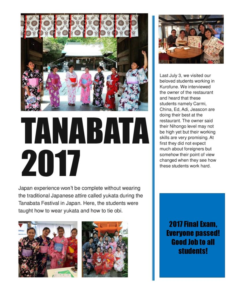 Tabanata Japan 2017 - Jellyfish Education Consultancy Philippines Inc.